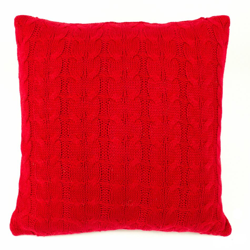 BO-MA Obliečka na vankúšik pletená Uno červená, 45 x 45 cm