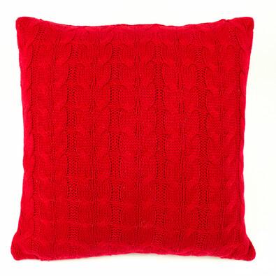Povlak na polštářek pletený Uno červená, 45 x 45 cm