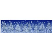 Okenná fólia Zimný les, 64 x 15 cm