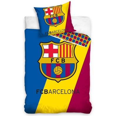 Bavlněné povlečení FC Barcelona Trio, 140 x 200 cm, 70 x 80 cm