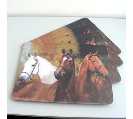 Prostírky Koně, 40 x 30 cm, sada 4 ks