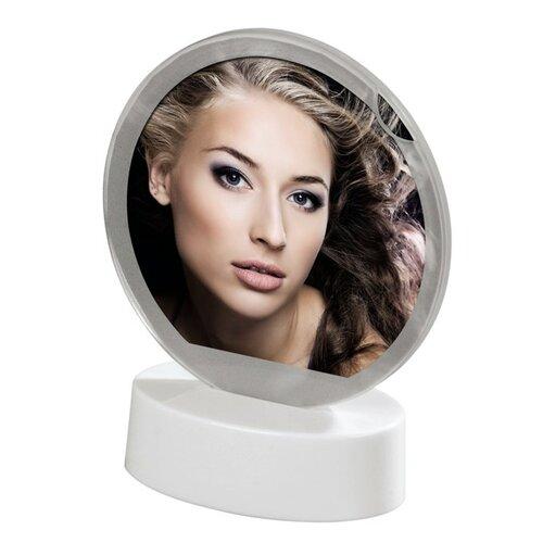Portrétový rámček LED, kruhový, 8,2 x 8,2 cm, biely