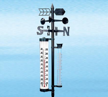 Meteostanice, černá, 145 cm