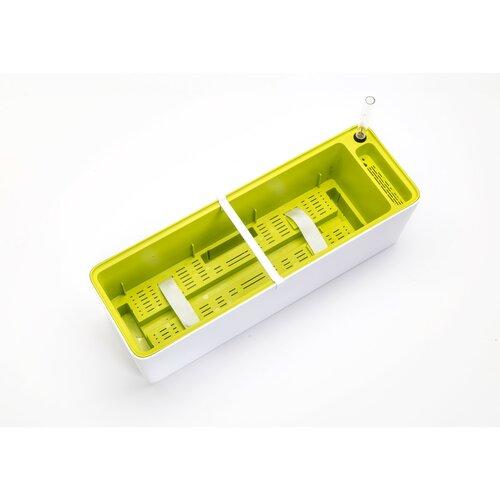 Plastia Samozavlažovací truhlík Berberis 60, biela + zelená
