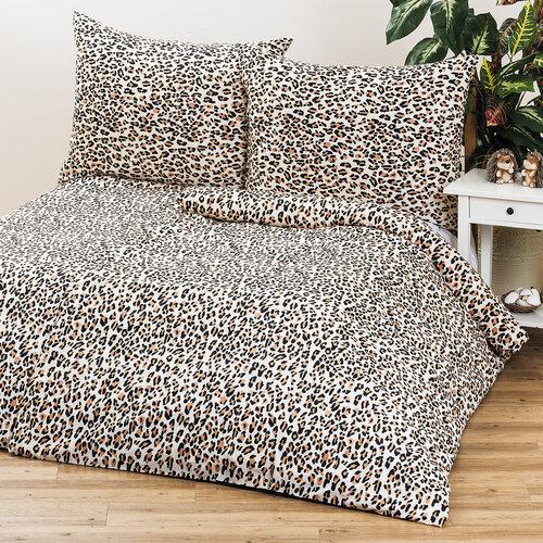 2 sady obliečok Leopard, 140 x 200 cm, 70 x 90 cm