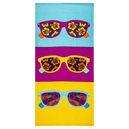 Plážová osuška Slnečné okuliare, 70 x 150 cm