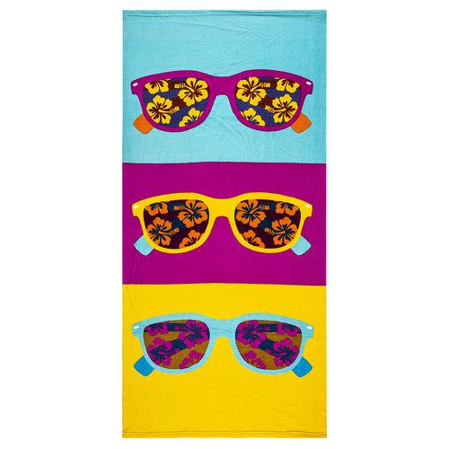 Plážová osuška Sluneční brýle, 70 x 150 cm