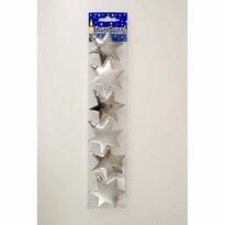 Vánoční ozdoby Hvězda stříbrná, 7 cm