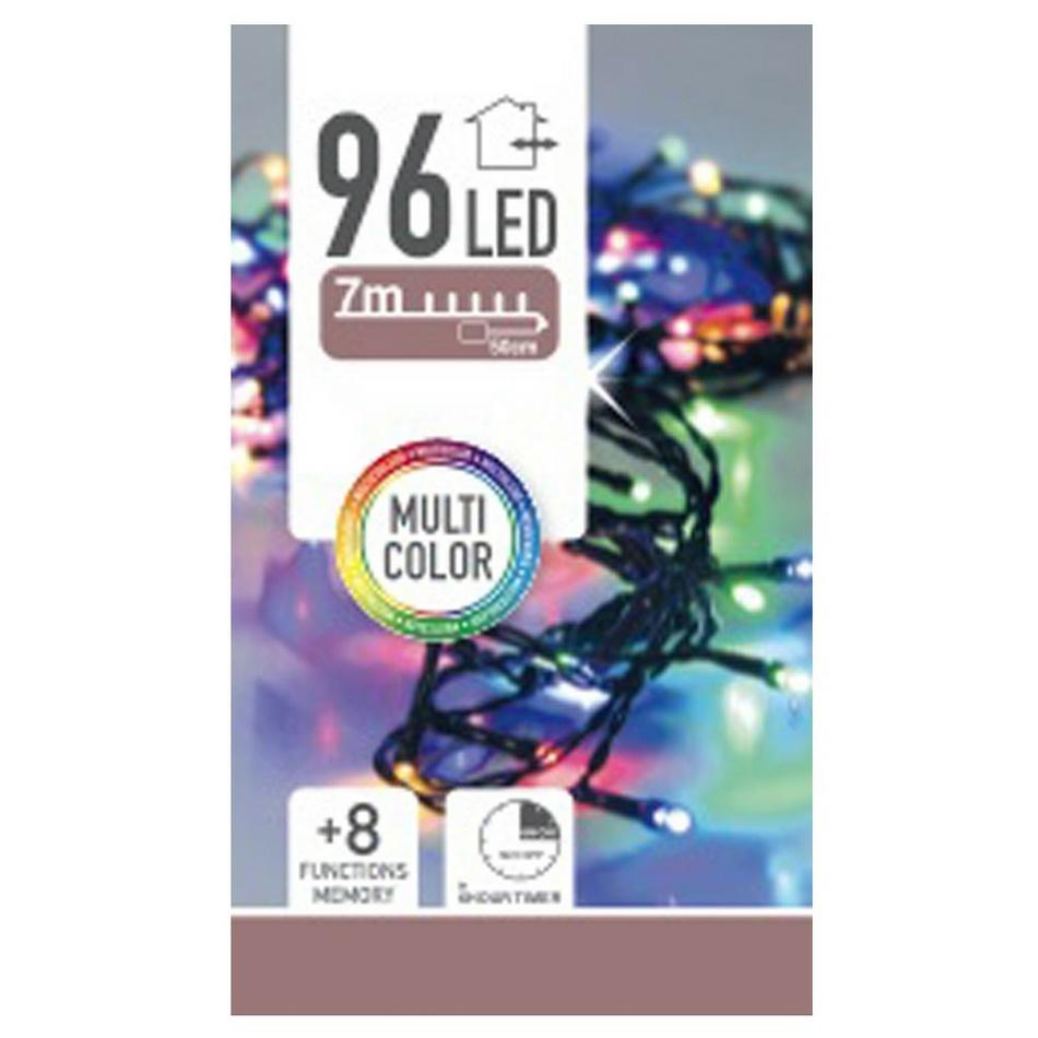 Světelný řetěz Twinkle multicolor, 96 LED