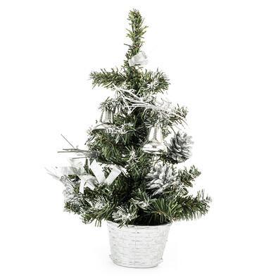 Vánoční stromeček dekorovaný stříbrná 30 cm