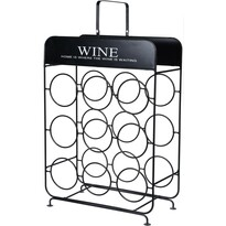 Koopman Stojak metalowy na 9 butelek wina, 37,5 cm x 18 x 55 cm