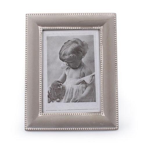 Drevený fotorámček Clasico, sivá, Dakls