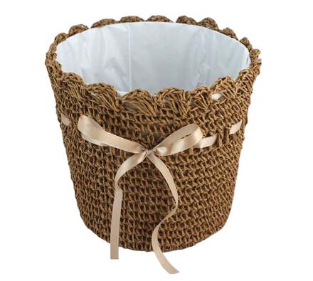Koszyk z kokardką jasnobrązowy