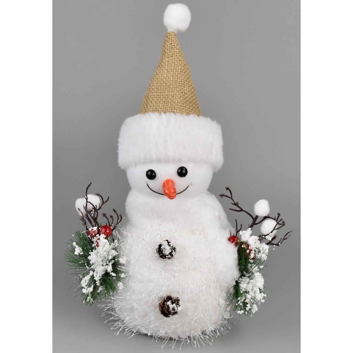 Vánoční dekorace Bonhomme de neige, 30 cm