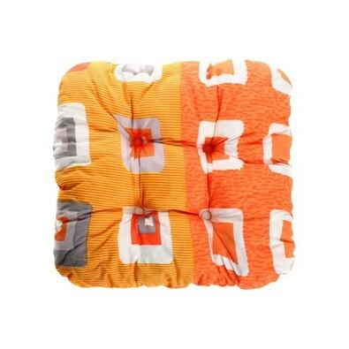 Podsedák zahradní 38 x 38 x 7 cm, oranžová