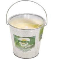 Citronella rovarriasztó gyertya fém borításban,160 gramm