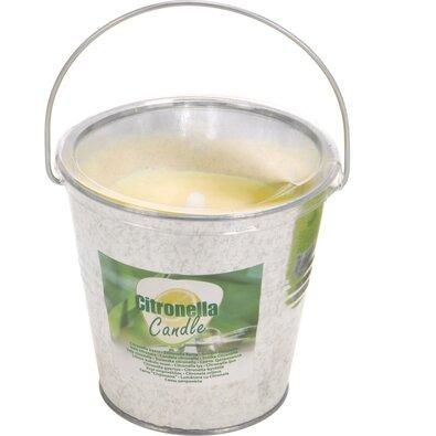 Lumânare repelentă Citronella, în recipient  din tablă, 160 grame