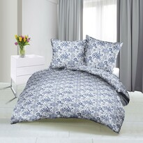 Lenjerie de pat din satin Trandafir, albastru, 140 x 220 cm, 70 x 90 cm