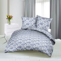 Rózsa szatén ágynemű, kék