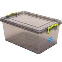 Aldotrade Plastový úložný box 1,5 l, sivá