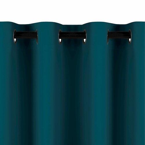 AmeliaHome Zasłona Blackout EYELETS niebieski, 140 x 245 cm