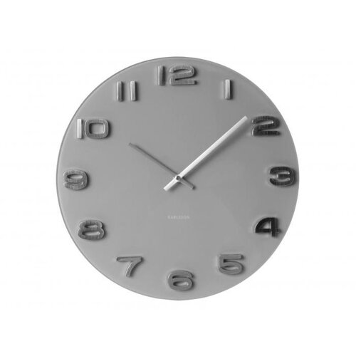Karlsson 5489GY nástenné hodiny