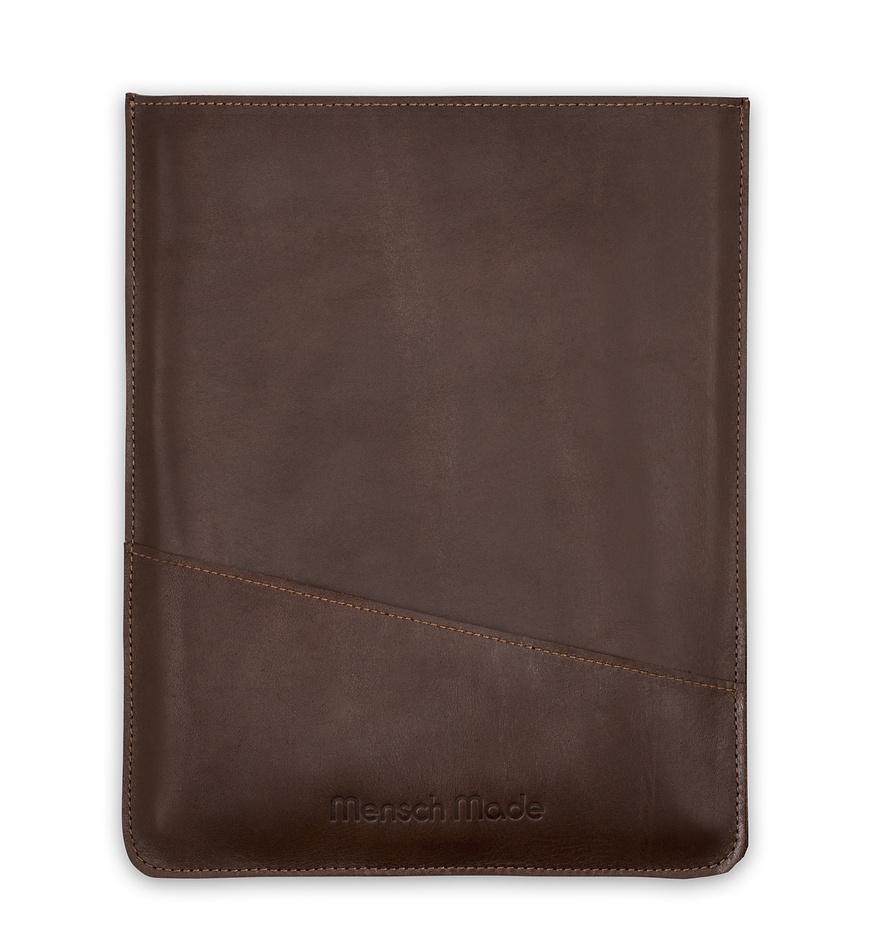 Mensch Made Kožené puzdro na iPad, hnedé