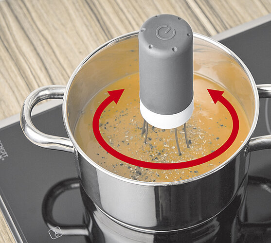 Míchačka do polévky, černá, 18 x 11 cm