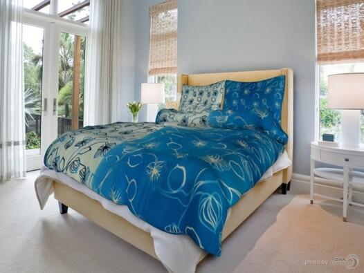 Bavlněné povlečení stvoly modré,140x200 cm,70x90cm