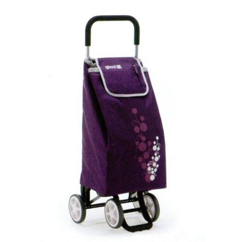 Nákupní taška na kolečkách TWIN fialová plum vozík na kolieskach