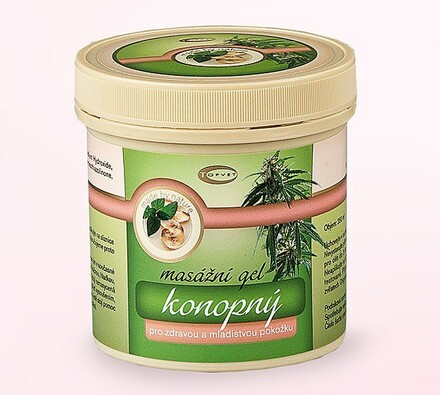 Konopný masážní gel Topvet, 250ml