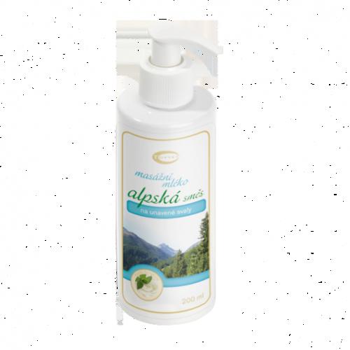 Topvet Alpské masážne mlieko, 200 ml