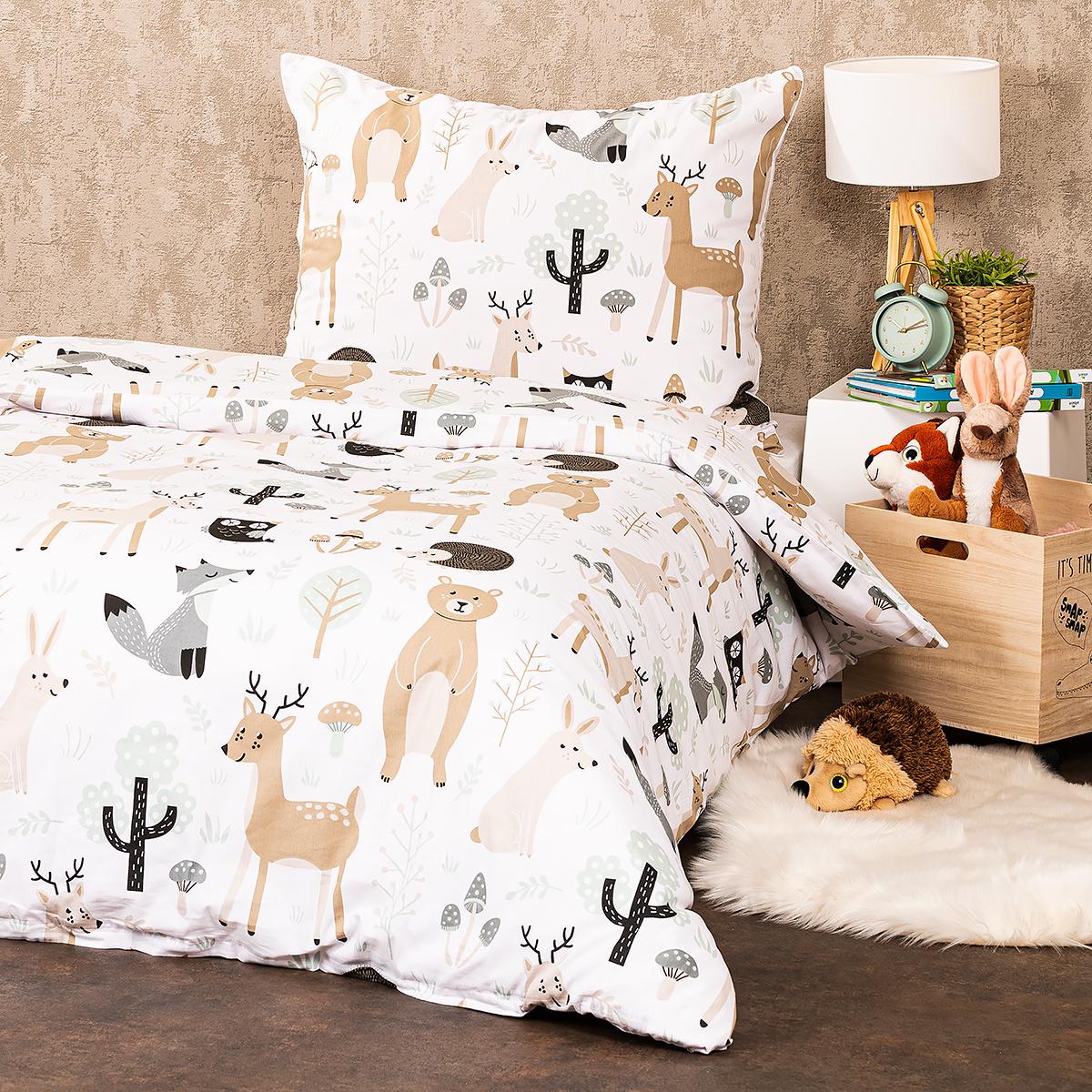 4Home Bavlnené obliečky Nordic Friends, 140 x 200 cm, 70 x 90 cm, 140 x 200 cm, 70 x 90 cm