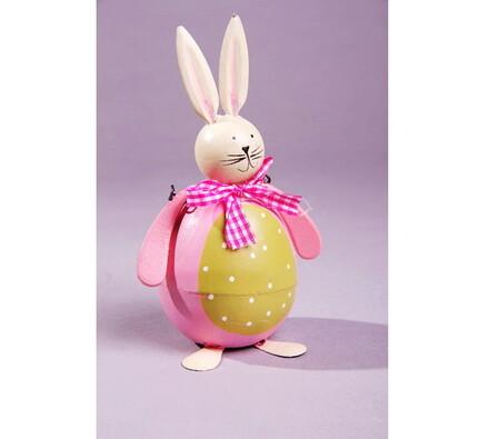 Velikonoční dekorace králík, růžová