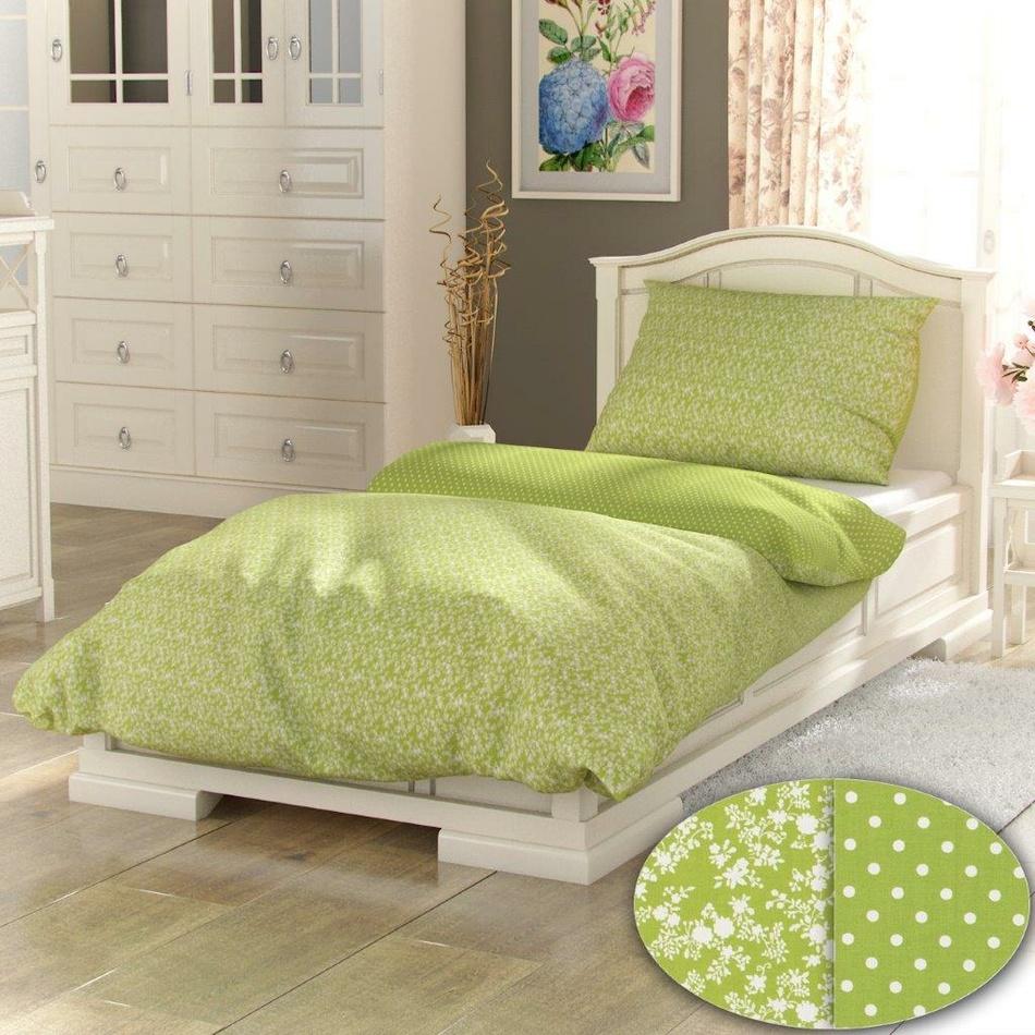 Kvalitex bavlna povlečení Provence Collection Daisy spot 140x200 70x90