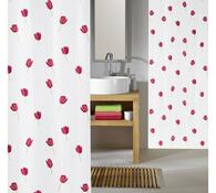 Koupelnový závěs Tulipán Meusch, červená, 180 x 200 cm