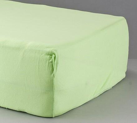 Prostěradlo žerzej, zelená, 90 x 200 cm