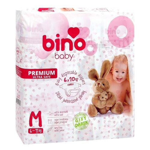 Bino Baby Dětské jednorázové pleny Premium M, 60 ks