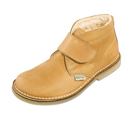 Orto Plus Dámská obuv kotníčková zateplená vel. 40 světle hnědá