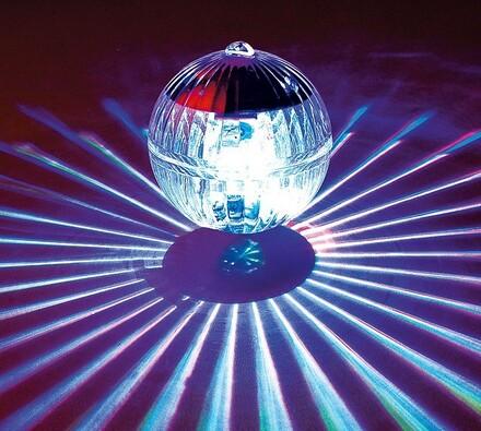 Solární LED skleněná koule