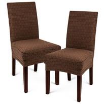 4Home Multielastický potah na židli Comfort Plus hnědá, 40 - 50 cm, sada 2 ks