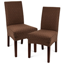 4Home Multielastyczny pokrowiec na krzesło Comfort Plus brązowy, 40 - 50 cm, zestaw 2 szt.