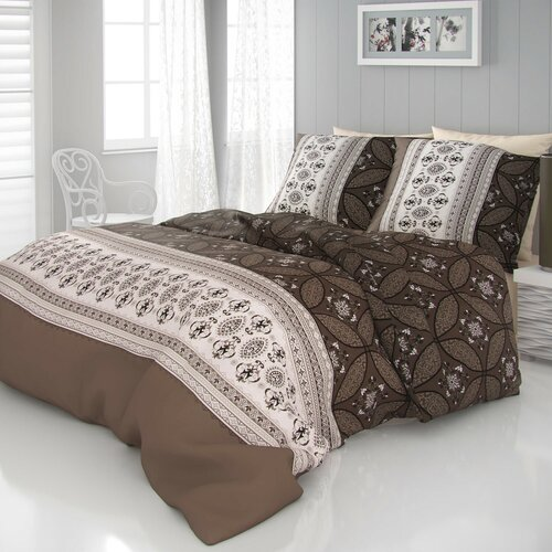 Kvalitex Ivore szatén ágynemű, barna, 220 x 200 cm, 2 db 70 x 90 cm