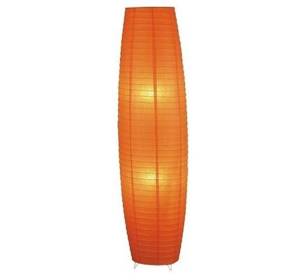 Stojací lampa Rabalux Myra 4722, oranžová, pr. 33 x 130 cm