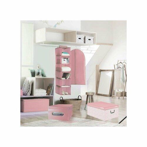 Compactor Nordic tárolódoboz, 50 x 38,5 x 24 cm,rózsaszín