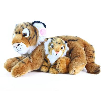 Rappa Plyšový tiger s mláďaťom, 37 cm