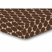 DecoKing Prześcieradło Rhombuses brązowe S2, 90 x 200 cm