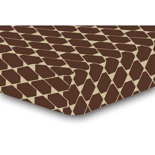 Cearșaf DecoKing Rhombuses, maro S2, 90 x 200 cm