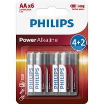 Philips LR6P6BP/10 sada alkalických baterií AA, 4 + 2 ks