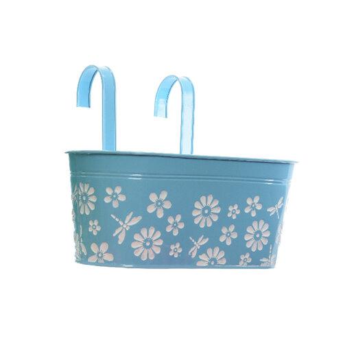 Závesný truhlík Flowers modrá, 33 cm